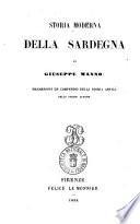 Storia moderna della Sardegna di Giuseppe Manno