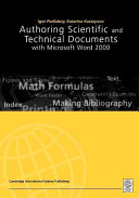 Authoring Scientific And Technical Documents With Microsoft Word 2000 book