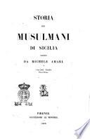 Storia dei musulmani di Sicilia scritta da Michele Amari
