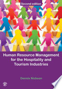 Human Resource Management for Hospitality  Tourism and Events