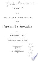 Report of the ... Annual Meeting of the American Bar Association