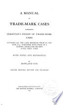 A Manual Of Trade Mark Cases