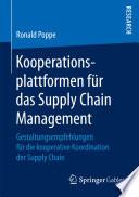 Kooperationsplattformen für das Supply Chain Management