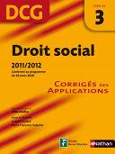 Droit Social Dcg Preuve 3 Corrig S Des Des Applications