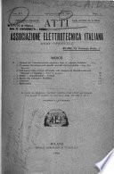 Atti dell Associazione elettrotecnica italiana