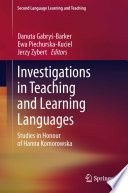 Investigations in Teaching and Learning Languages