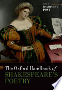 The Oxford Handbook of Shakespeare s Poetry