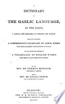 A Dictionary of the Gaelic Language