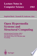 Open Hypermedia Systems and Structural Computing