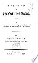 Lehrbuch der Philosophie des Rechtes