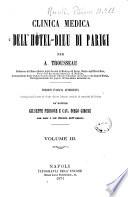 Clinica medica dell'Hotel Dieu di Parigi per A. Trousseau