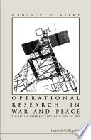 Operational Research In War And Peace book
