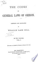 The Codes and General Laws of Oregon