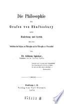 Die Philosophie des Grafen von Shaftesbury (etc.)