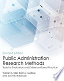 Public Administration Research Methods