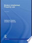 Modern Intellectual Property Law 3 e