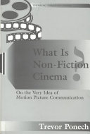 What is Non fiction Cinema
