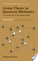 Group Theory in Quantum Mechanics