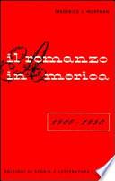 Il romanzo in America  1900 1950