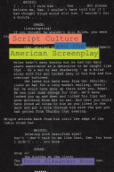 Script Culture and the American Screenplay