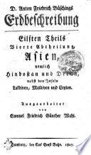 Anton Friedrich Büschings Erdbeschreibung