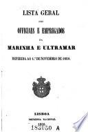 Lista geral dos officiaes e empregados da marinka e ultramar