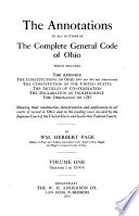 The Annotations to All Sections of the Complete General Code of Ohio Book PDF