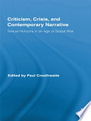 Criticism  Crisis  and Contemporary Narrative