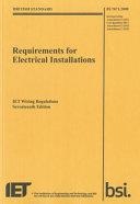 IET Wiring Regulations (BS7671:2008 Incorporating Amendment Number 3:2015)