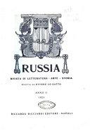 Russia rivista di letteratura  storia e filosofia