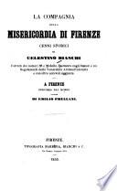 La Compagnia Della Misericordia Di Firenze