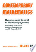 Dynamics and Control of Multibody Systems
