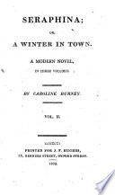 Seraphina Or A Winter In Town A Modern Novel