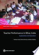 Teacher Performance in Bihar  India