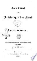 Handbuch Der Arch Ologie Der Kunst Von K O M Ller