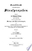 Handbuch des österreichischen Strafrechtes