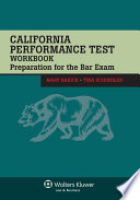 California Performance Test Workbook