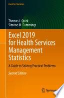 Excel 2019 For Health Services Management Statistics