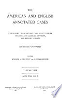 Annotated Cases  American and English
