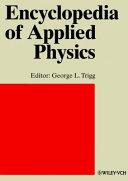 Encyclopedia of Applied Physics  Encyclopedia of Applied Physics Volume 8