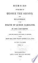 Memoirs of the Reign of George the Second Book PDF