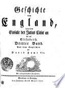 Geschichte von England, von dem Einfalle des Julius Cäsar an bis auf Elisabeth