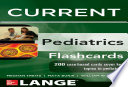 Lange CURRENT Pediatrics Flashcards