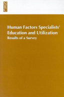 Human Factors Specialists'Education and Utilization