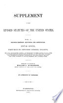 Supplement to the Revised Statutes of the United States