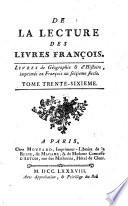 De la lecture des livres francois