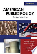 American Public Policy  An Introduction