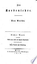 Zur Farbenlehre  Bd 1 2