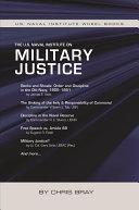 The U S  Naval Institute on Military Justice