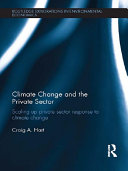 Climate Change and the Private Sector